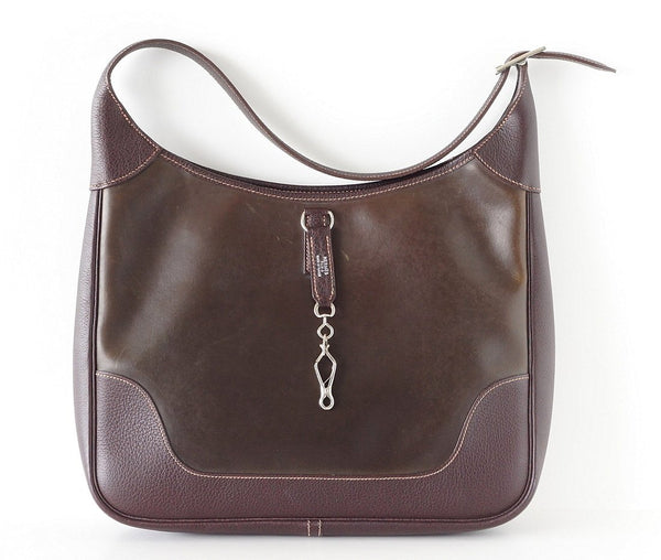 HERMES Trim Bag Rare AMAZONIA Leather 35 Very Chic