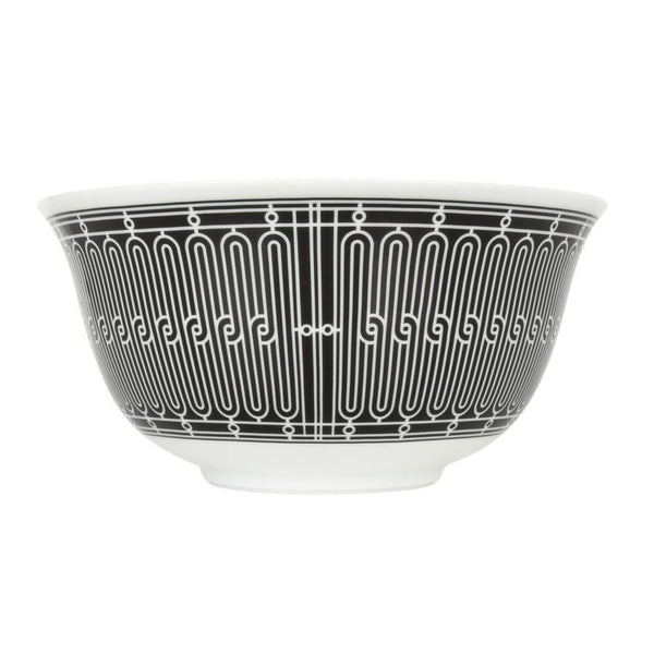 Hermes H Deco Bowl Black with White new