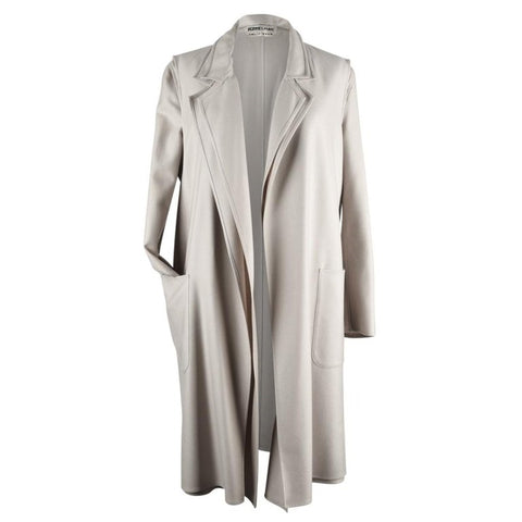 Hermes Coat Cashmere 2Piece Vest Coat Pearl Gray 40 / 6