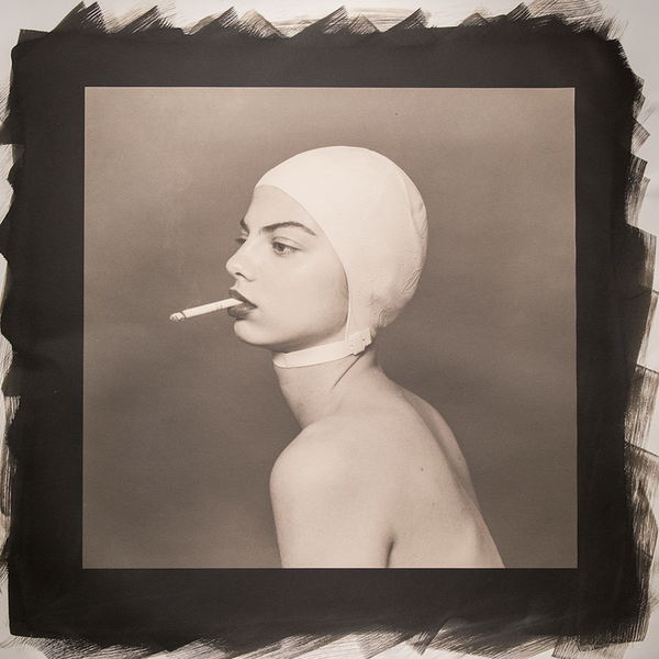 Swim Cap by Tyler Shields, Platinum Palladium Print, 2018