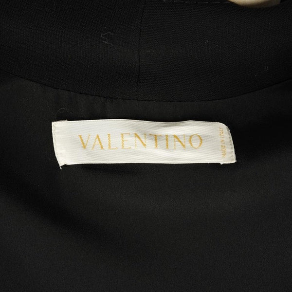 Valentino Jacket Black Wool w/ Mink Trim New 12