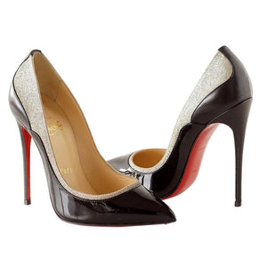 Christian Louboutin Pigalle Black Patent Shoe with Glitter