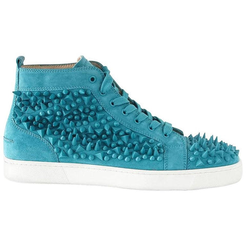 Christian Louboutin Sneakers Turquoise Louis Pik Pik Flat Suede 43.5 / 10.5 mint