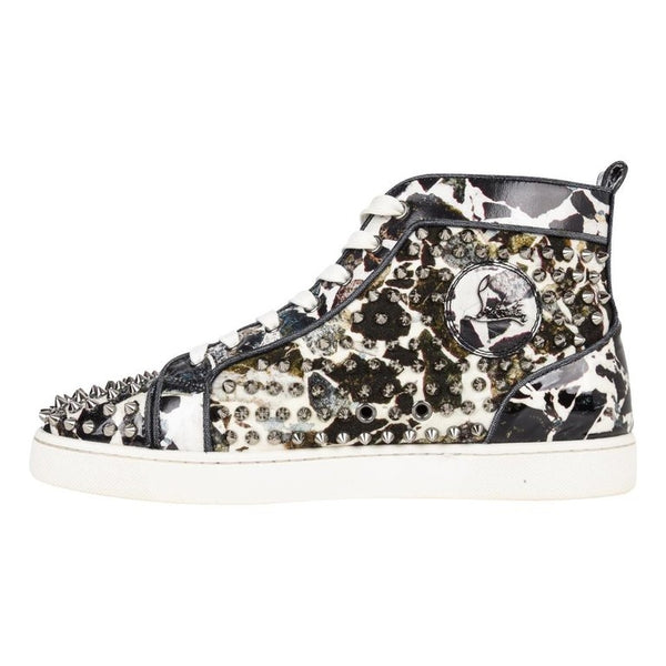 Christian Louboutin Louis Flat Patent Carr Spikes High Top Sneaker 42.5 /