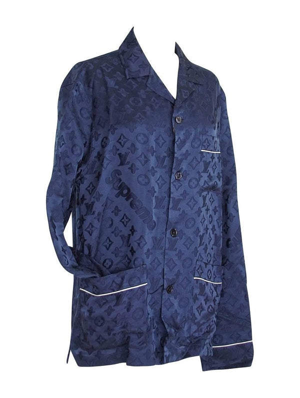 Louis Vuitton X Supreme Pyjama Set Navy Celine Dion Paris Haute Couture M