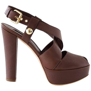 Louis Vuitton Shoe Bold Strap Peeptoe Platform 39 / 9 New