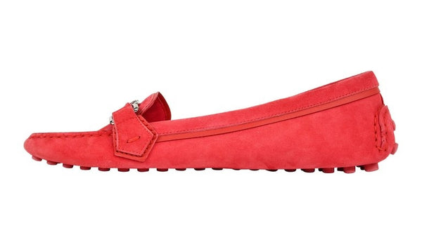 Louis Vuitton Shoe Pink Raspberry Suede Loafer / Driving Shoe 38.5 / 8.5 New