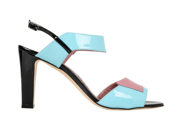 Manolo Blahnik Shoe Multi Coloured Patent Leather Sandal 39.5 / 9.5
