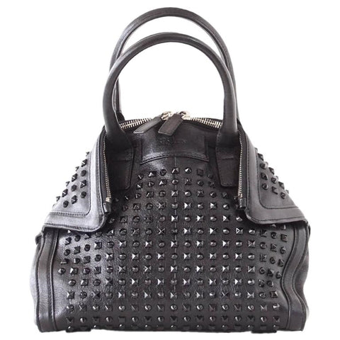 Alexander McQueen Bag Black on Black De Manta Tote Shoulder Strap