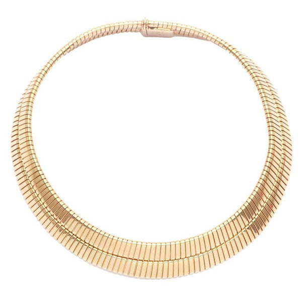1970s Bulgari Gold Tubogas Necklace