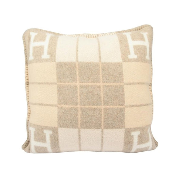 Hermes Cushion Avalon III PM Signature H Coco and Camomille Throw Pillow
