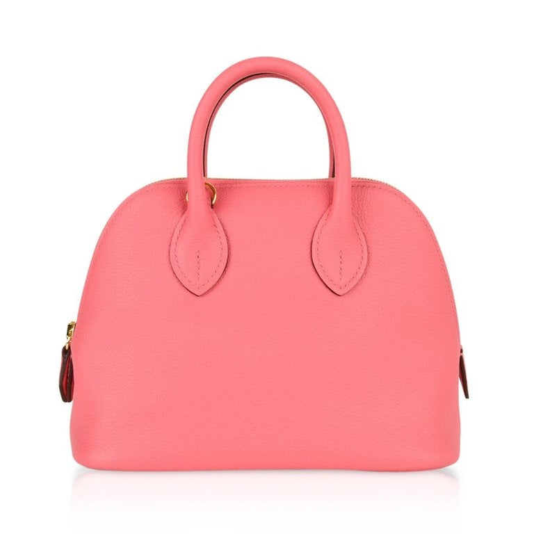 Hermes Mini Bolide 1923 Bag Rose Azalee Evercolor