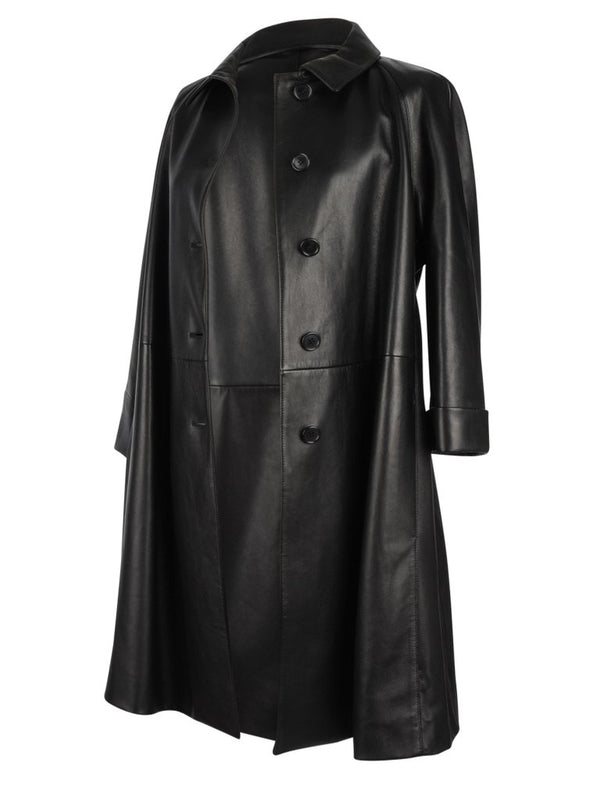Prada Coat Classic Black Soft Supple Lambskin Leather 8