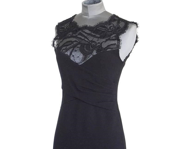 Emilio Pucci Lace Neckline Rear Zipper Dress