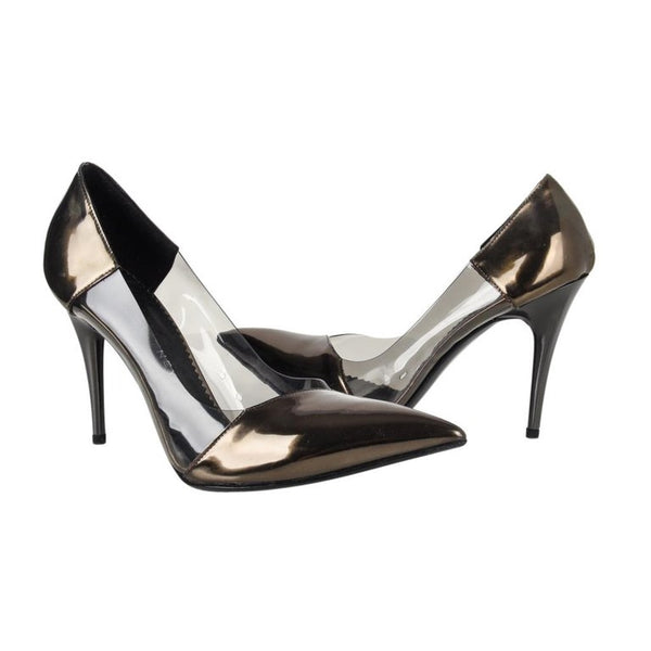 Stella McCartney Shoe Iconic Vegan PVC Patent Leather Pump 38 8