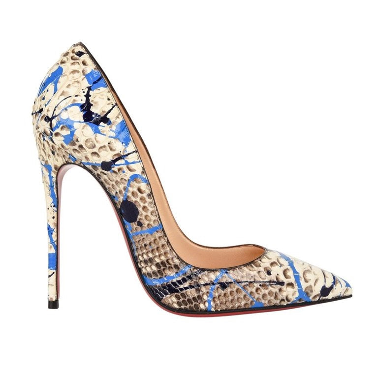 Christian Louboutin Shoe Python Graffiti Pigalle 115mm 35 / 5 New