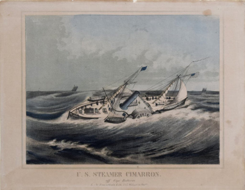 LOUIS N. ROSENTHAL, LITHOGRAPHER, US STEAMER CIMARRON. OFF CAPE HATTERAS