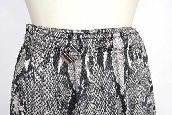 GUCCI by TOM FORD Pant Slinky Snake Print Sweat Style Zipper Ankle 38 / 4