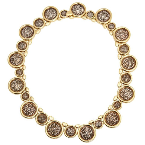 Marina B Solar Coins Gold Link Necklaces