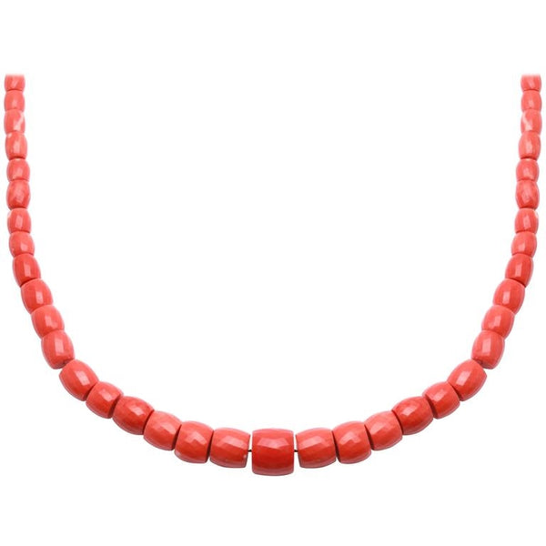 Sardinian Red Coral Strand Necklace