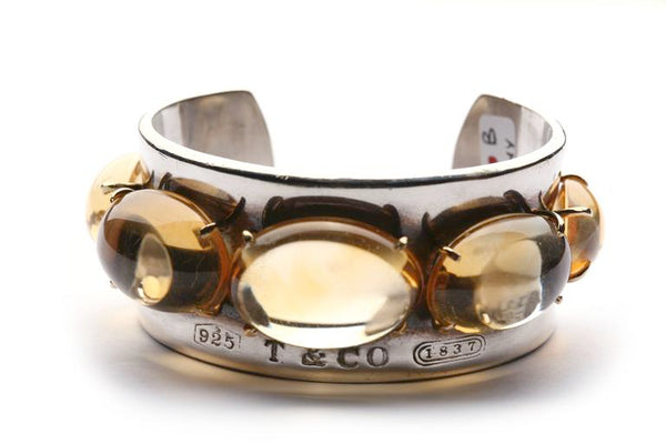 Tiffany & Co. Citrine Silver Cuff Bracelet