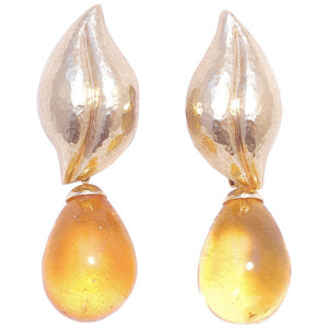 Tiffany & Co. Paloma Picasso Amber Gold Earrings