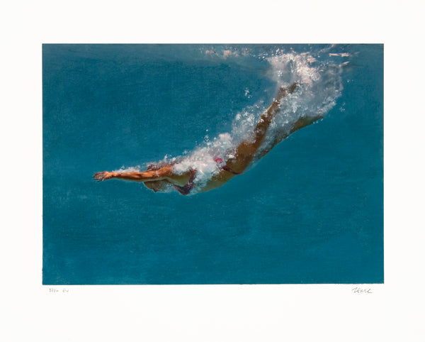 Untitled Swimmer in Red Suit by Eric Zener, 2019