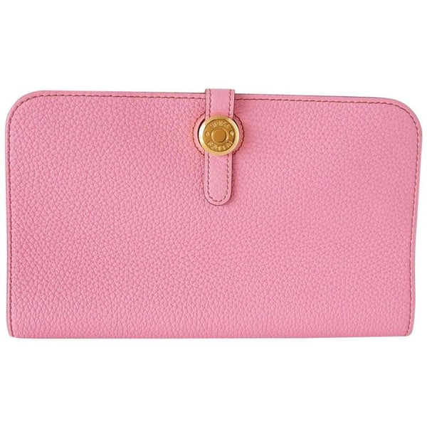 Hermes Dogon Wallet Coveted 5P Pink GM Long Togo Gold Hardware new