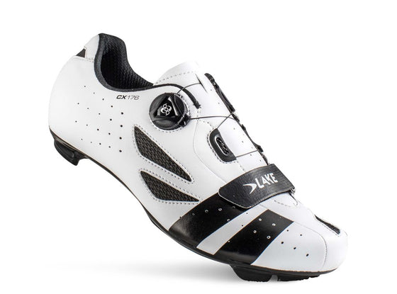 Lake - CX 176 White/Black (Normal and wide insole)