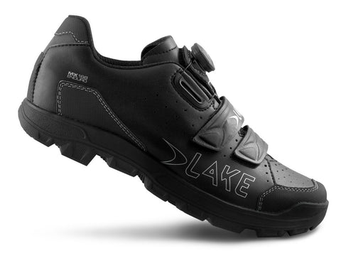 Lake - MX 168 Enduro black/silver (Normal and wide insole)