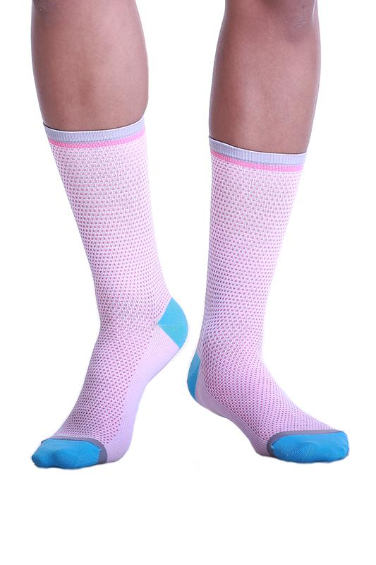 TEMPLE PROJECT RESPIRA COMPRESSION SOCKS Cotton candy