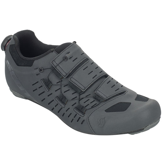 SCOTT ROAD AERO TT SHOE Dark Grey Reflective/Black