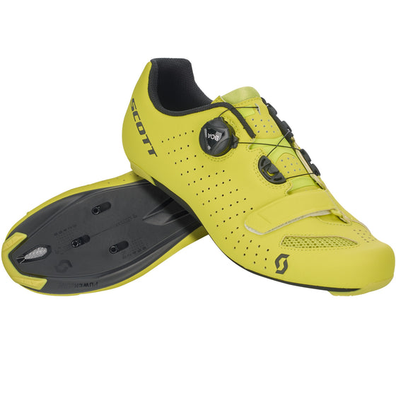 SCOTT - ROAD COMP BOA SHOE matt sulphur Yellow/Black