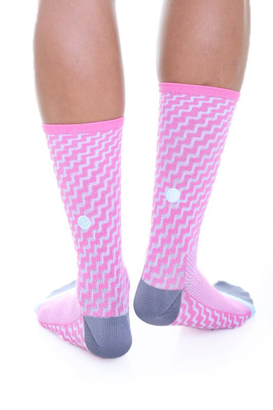 TEMPLE PROJECT ELECTRO COMPRESSION SOCKS Flamingo pink