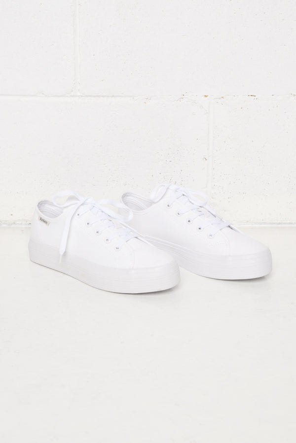Aya White Canvas Sneaker - Blue Bungalow ?id=6338914680889
