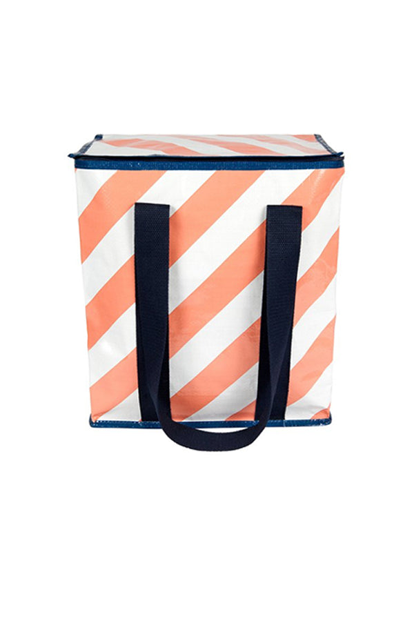 Peach Stripe Mooleii Cooler Bag - Mooleii - Blue Bungalow Online