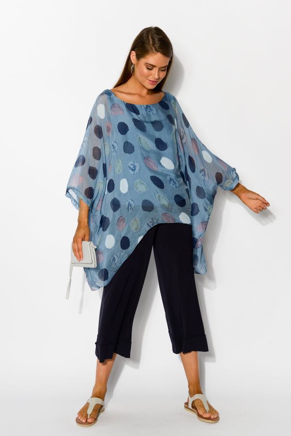 Blue Spotty Layered Top - Blue Bungalow