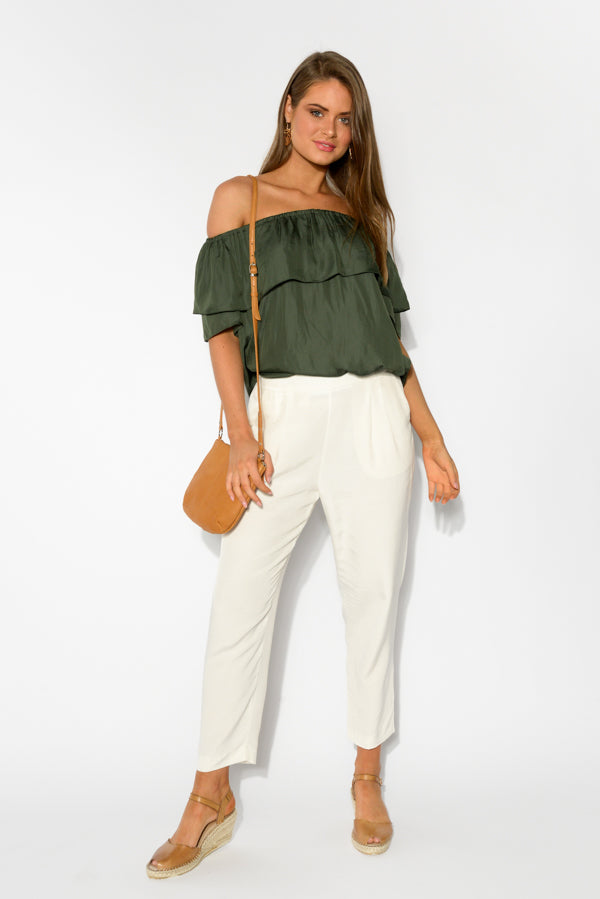 Notting Hill Cream Pintuck Pant - Fate Becker - Blue Bungalow Online