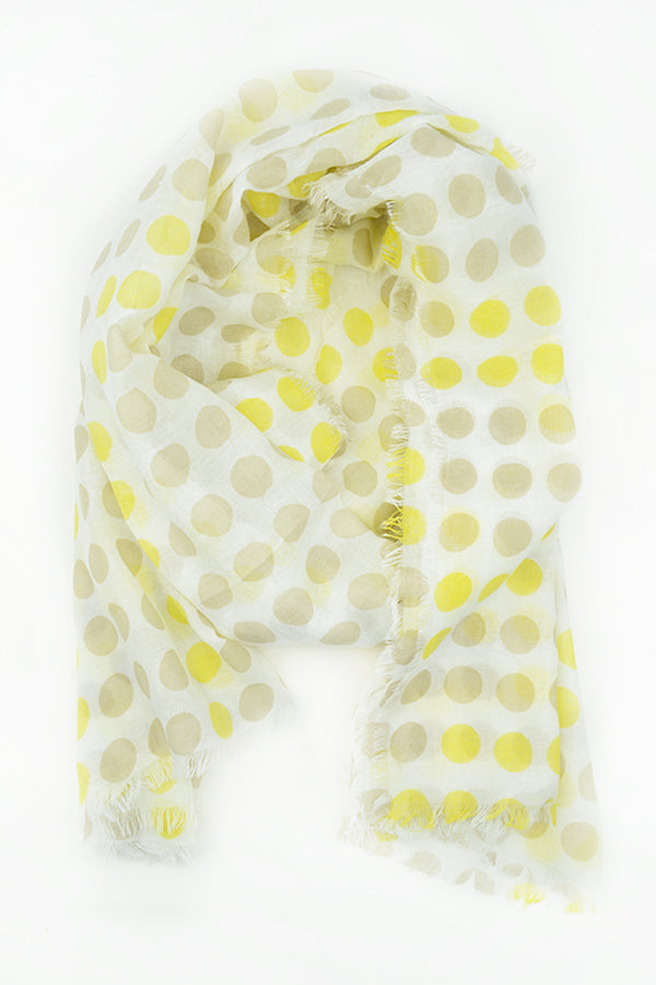 Lemon Dot Scarf - Blue Bungalow