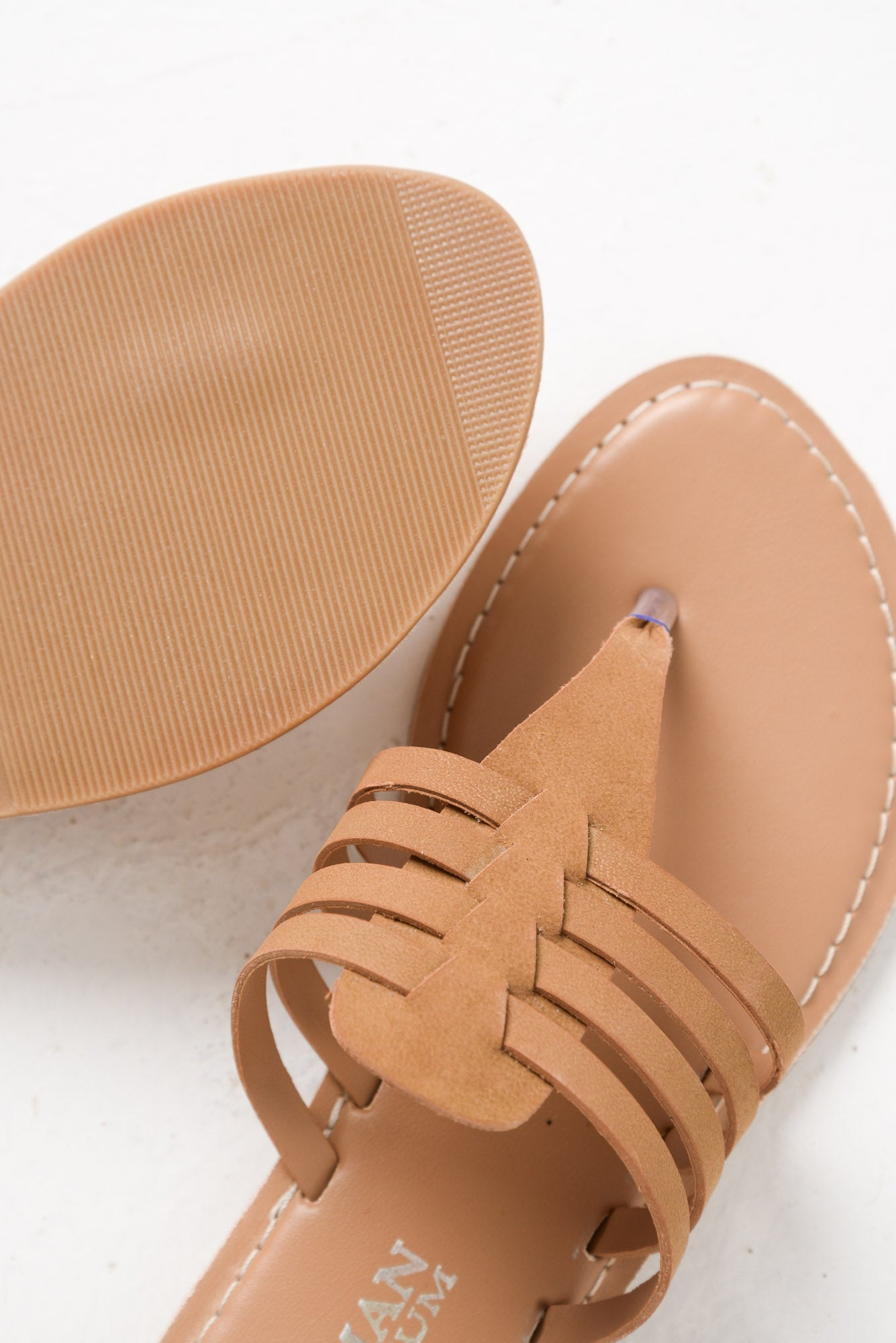 Sonya Tan Leather Sandal