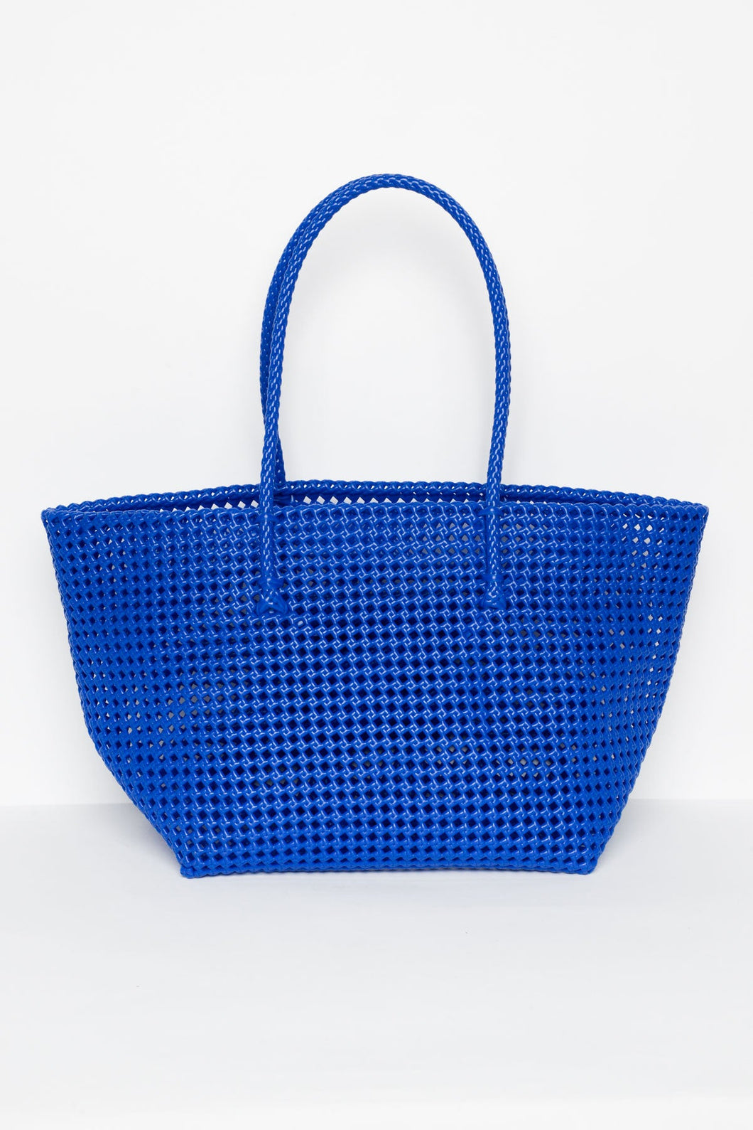 Shelly Cobalt Recycled Weave Tote - Langdon Luxury - Blue Bungalow Online
