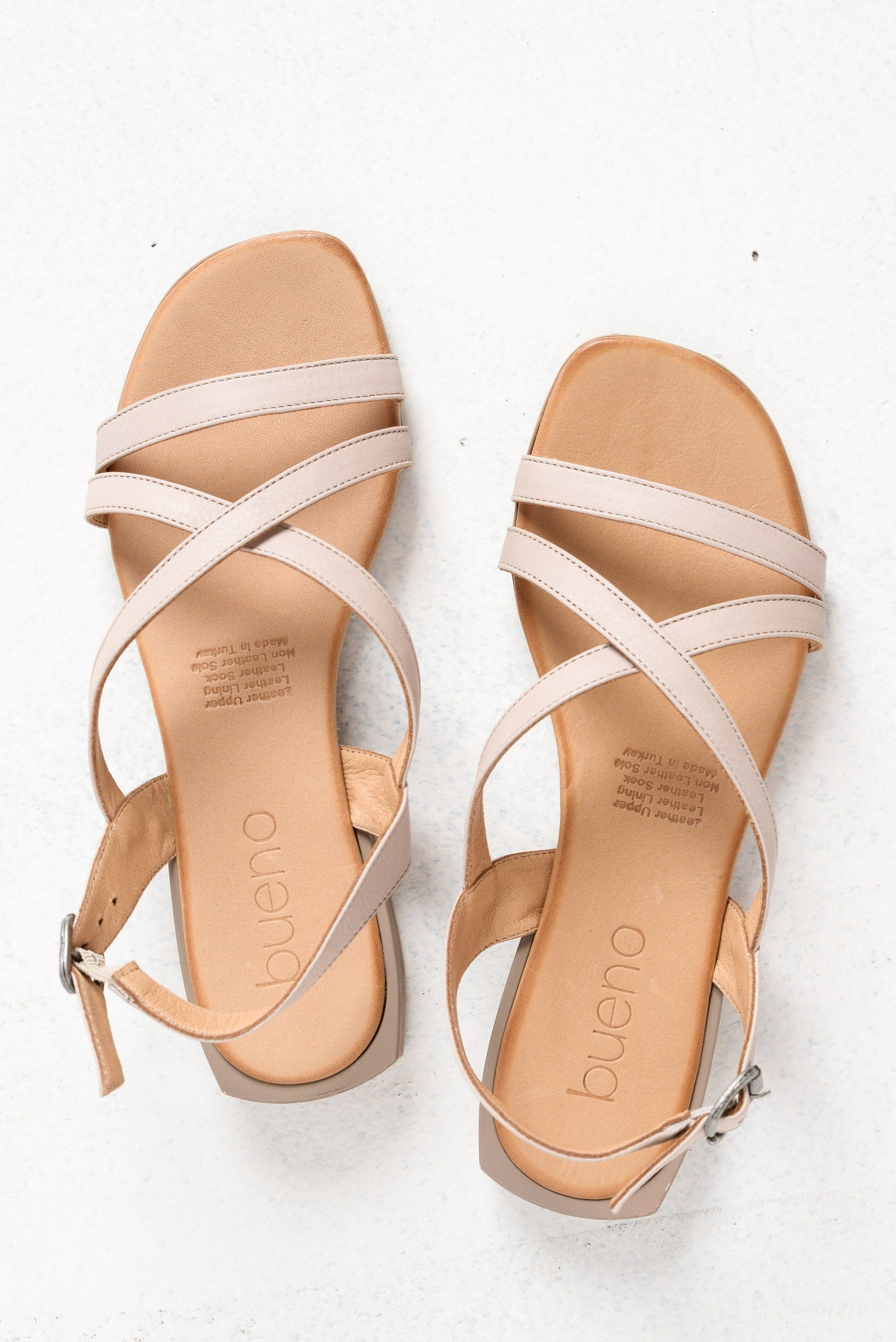 Astral Grey Strappy Leather Sandal