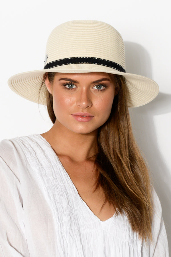Ivory Travel Round Sun Hat - Blue Bungalow ?id=6738421448761