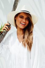 Ivory Travel Round Sun Hat - Blue Bungalow ?id=6738422300729