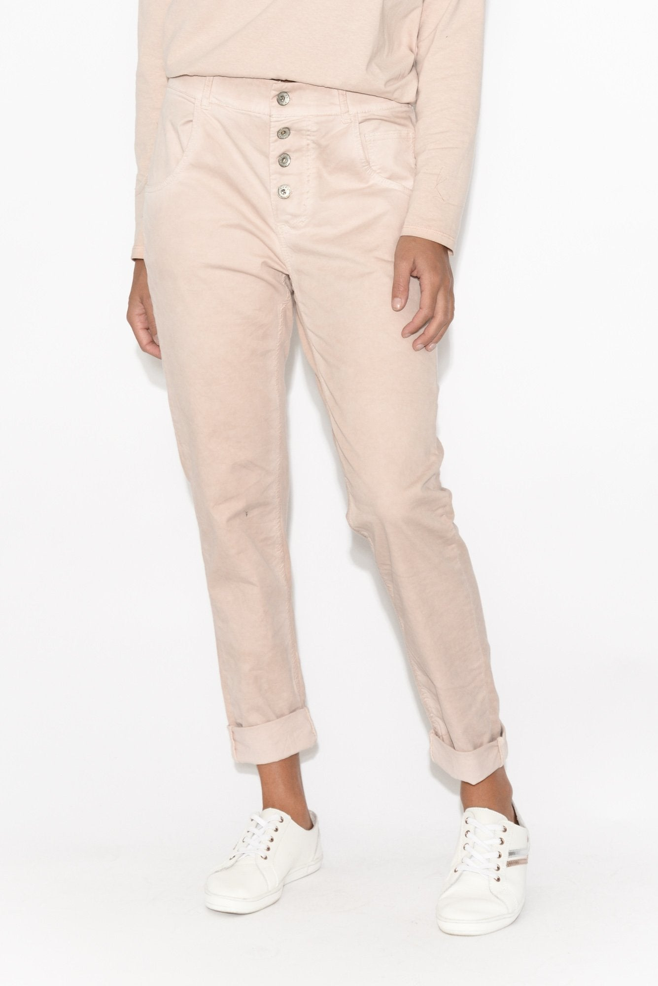 Abigail Pink Stretch Back Pant