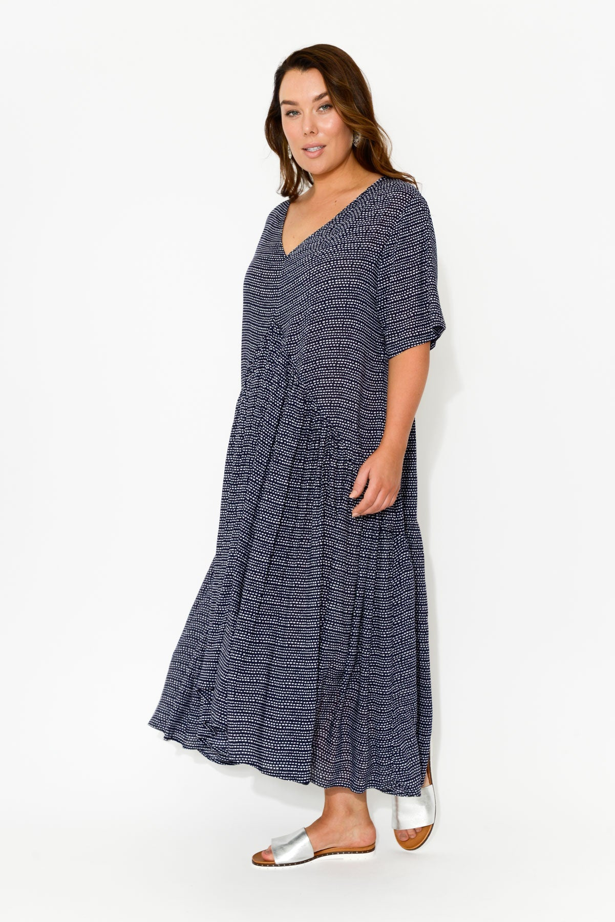 Ada Navy Dash Gather Dress