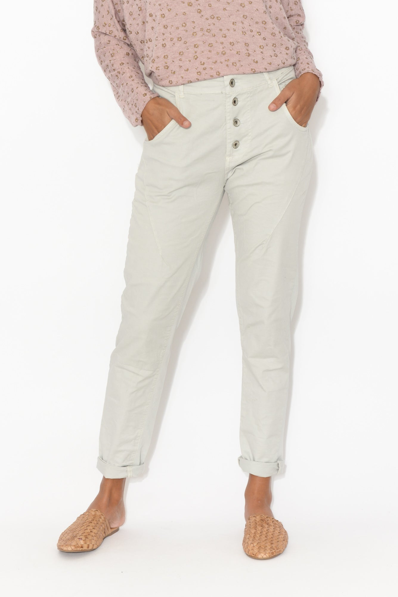 Alexis Grey Stretch Back Pant