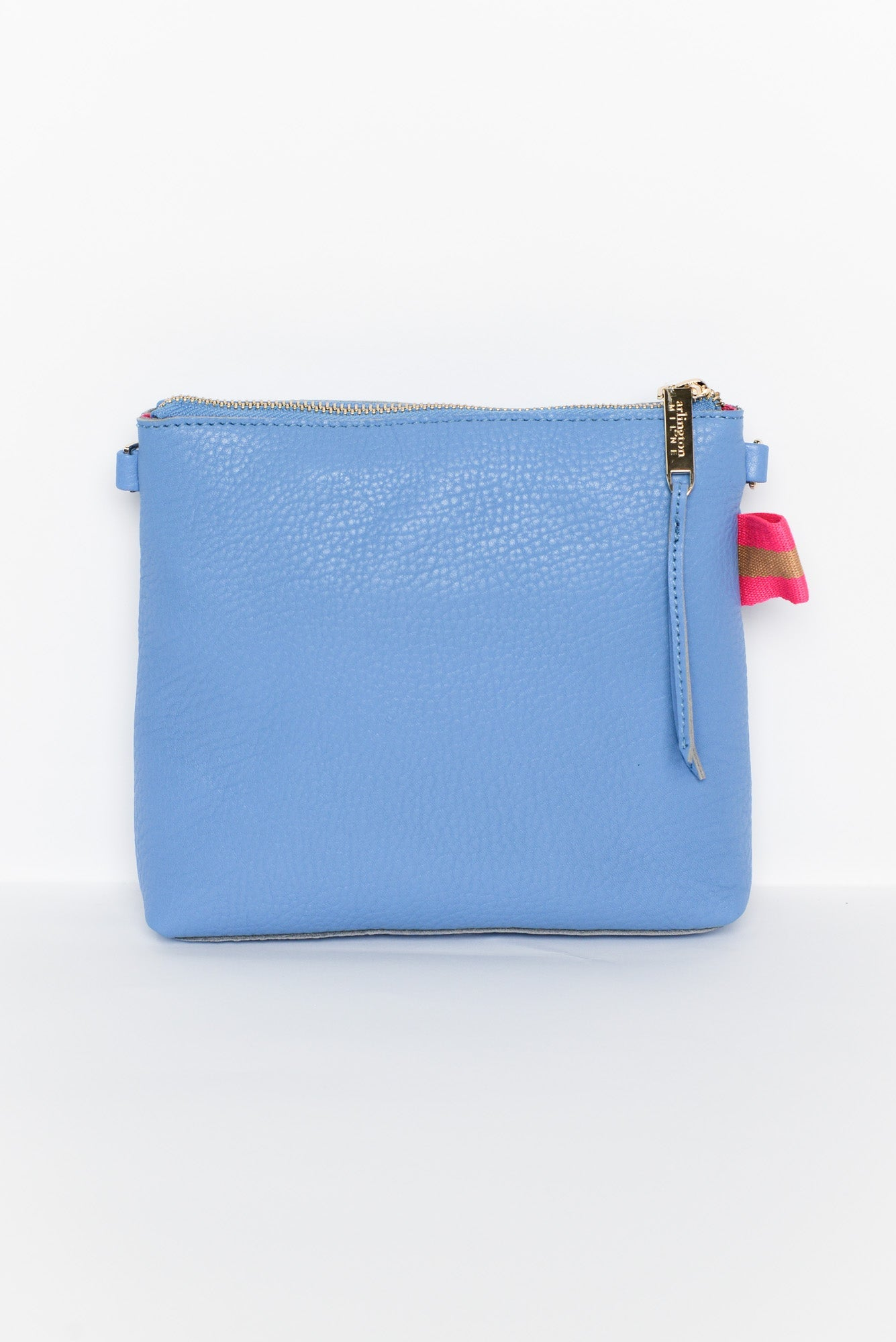 Alexis Light Blue Leather Crossbody Bag