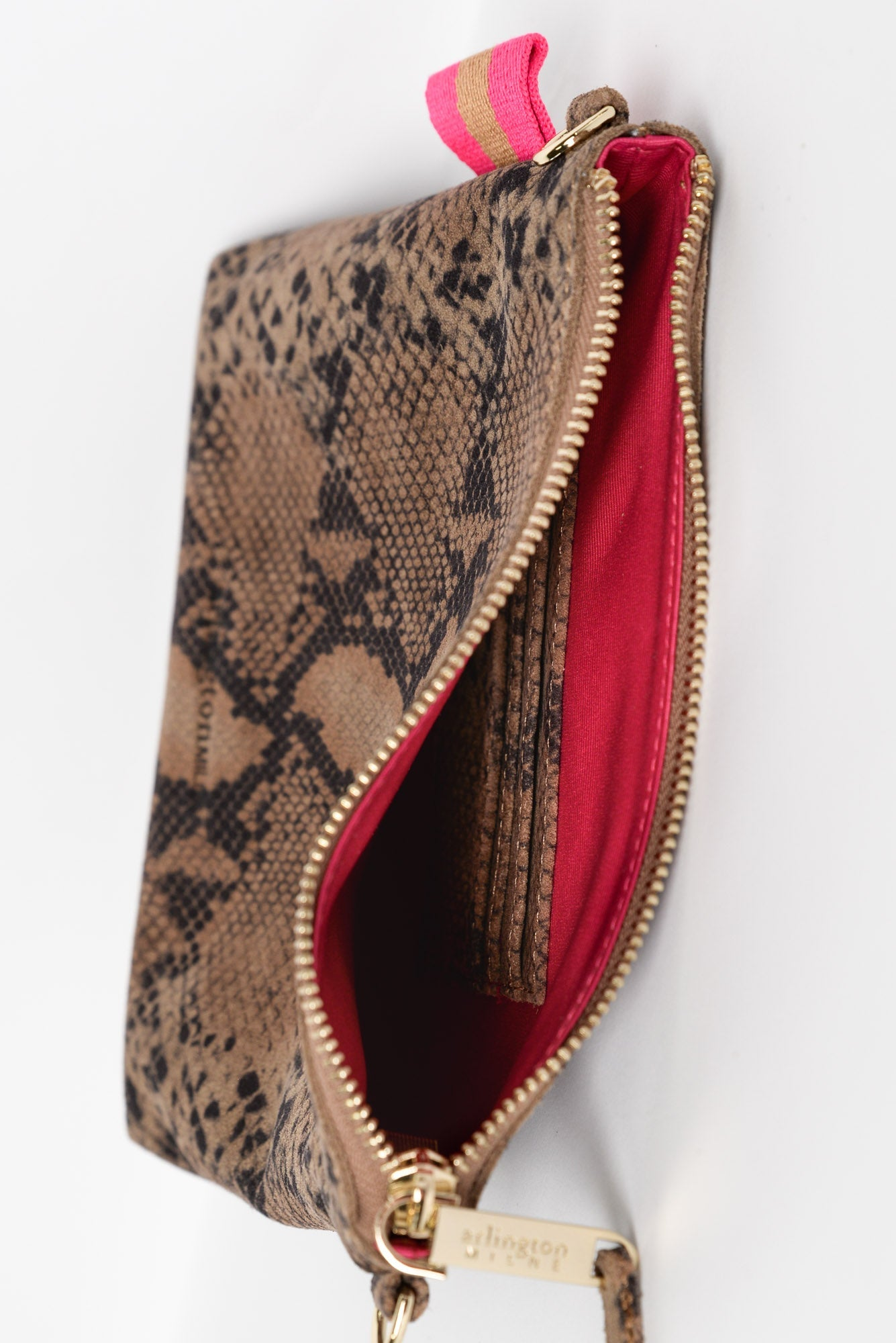 Alexis Python Leather Crossbody Bag