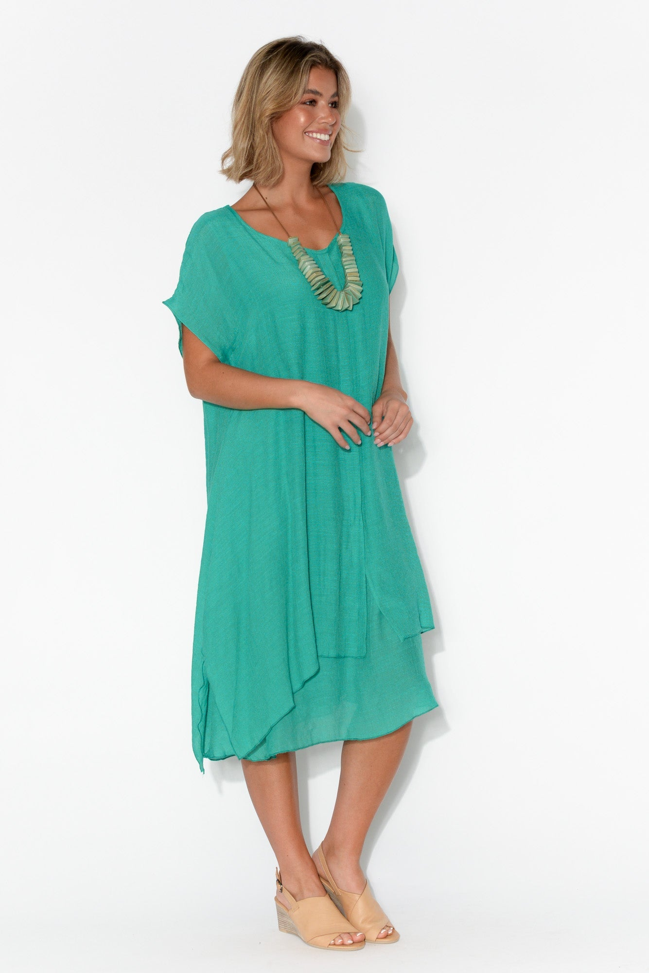 Alina Turquoise Layer Dress